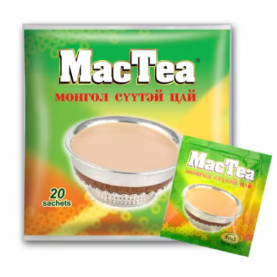 Mac Tea Mongolian Salt Tea - 240 gm (12 gm x 20 Sachets)