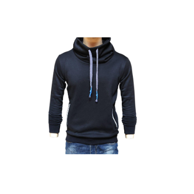 Korean Style Neck Hoodie Warm Fleece Inside