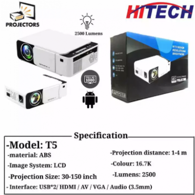 UNIC Led T5 Projector 2500 Lumen High Brightness Upto 150'