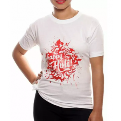 Happy Holi Printed T-Shirt For unisex By Arushi
