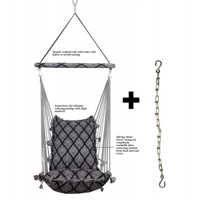 Kkriya Home Decor ®Jumbo Hammock N Swing Black Item Name (aka Title)