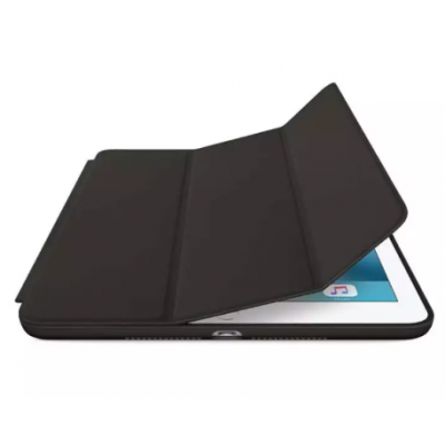 Apple Ipad 9.7 Inch Tablet Leather Smart Flip Case Cover Black Color