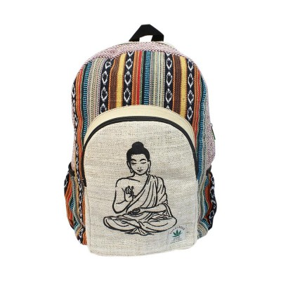 Hemp Buddha Printed Backpack - Unisex