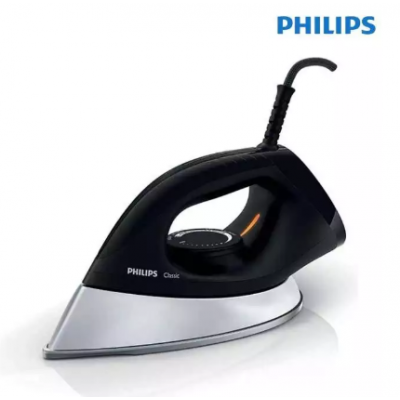 Philips GC185/89 1200 W Dry Iron - Black/Silver