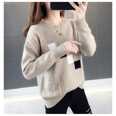 Round Neck Pullover Women Fairy Sweater