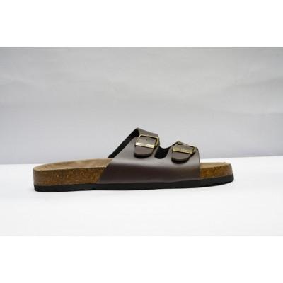 Lupth-Hansa 2 Stripe Sandal for Men Brown