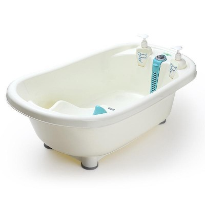 Baby Bath Tub with Bath Rack and Thermometer
