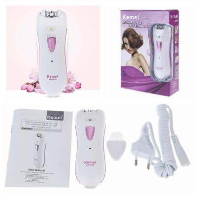 Kemei Rechargeable Women Epilator Shaver