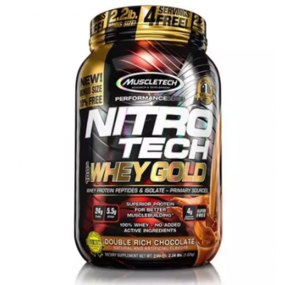 Muscle Tech Nutrition nitrotech 100% whey gold (whey protein isolate and peptides) 2lbs