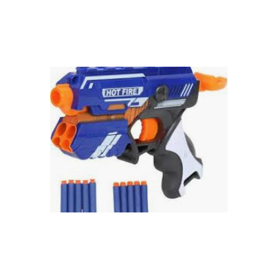 Miss & Chief Manual Blaze Storm Gun Blaster with 10 Foam Bullets for Kids  (Blue)