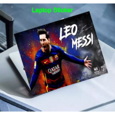 Skin Sticker, LEO Messi , Fits Dell, Hp, Lenovo, Toshiba, Acer, Asus and for All Models Upto 15.6 inches