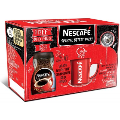 Nescafe Classic Coffee, 200g Jar with Free Red Mug and Scoop Spoon, 200 g