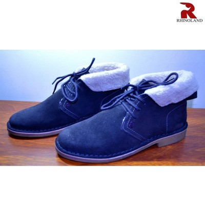 Rhinoland Ankle Boot With Fur Inside For Men
