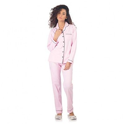 NITE FLITE Women's Cotton Nightdress Full Pyjama Set for Sleepwear