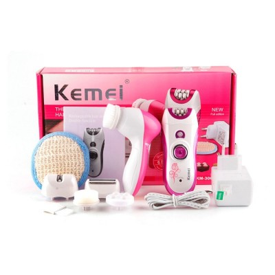 Kemei 6 in 1 Elecric Epilator for Women Hair Removal Machine Multifunctional Lady Shaving Tools