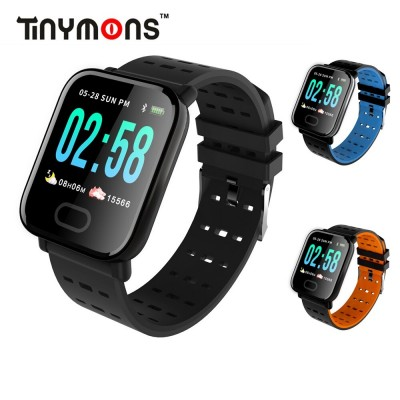 A6 Smart Watch Heart Rate Monitor Sport Fitness Tracker Sleep Monitor Waterproof Sport Watch Band for IOS Android