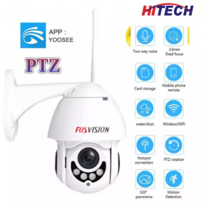 Double Antenna WiFi Night Vision HD CCTV IP Camera - Online Monitoring