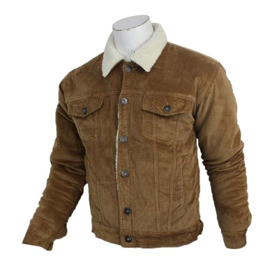 J.Fisher Corduroy Fur Jacket For Men