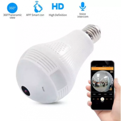 Bulb Light Wireless IP Camera Wi-fi FishEye 960P 360 Degree Mini CCTV VR Camera