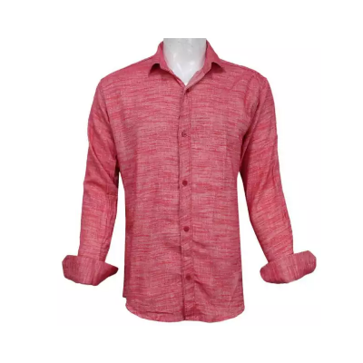 Heathered Cotton Casual Shirt For Men