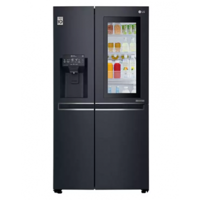 LG 668L Matt Black Side by Side Refrigerator - GSX6018MT