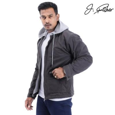 J.fisher Cotton Fleece Jacket For Men