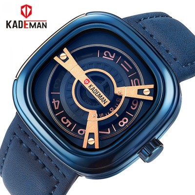 KADEMAN Casual Analog Watch For Men - Gold/Black