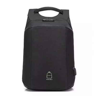 Anti-Theft Lock 15.6 Inch Laptop Backpack USB Charging- (Color Varied)