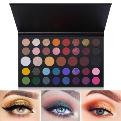 Luxury New Stylish 40 Color Eyeshadow Palette Cosmetic Powder Makeup