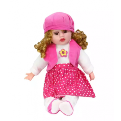 Pink/White Baby Doll For Kids