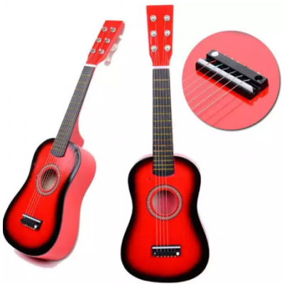 21 Inch Beginners Kids Acoustic Guitar 6 String Kids Guitar Toy with Guitar Pick