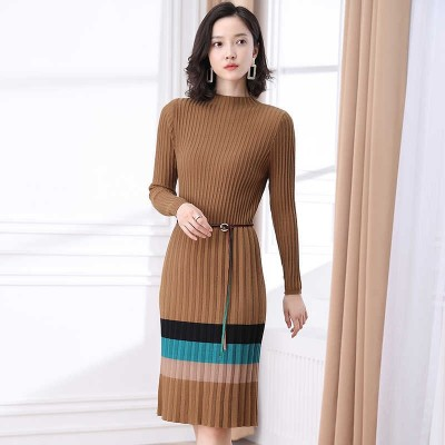 Jacquard Knit Winter Warm Long One Piece Sweater