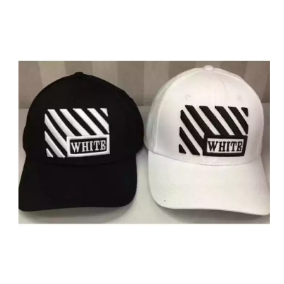 Baseball Cap Cotton Hat Fashion Men Hat Black White