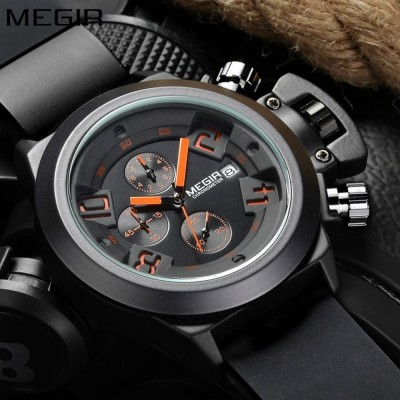 MEGIR Chronograph Watch For Men- Black