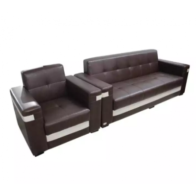 1 x Sunrise Furniture Wooden 4 Seater Sectional Sofa - Black