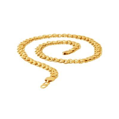 Voylla Voylla Designer Chain Necklace for Men (Golden)