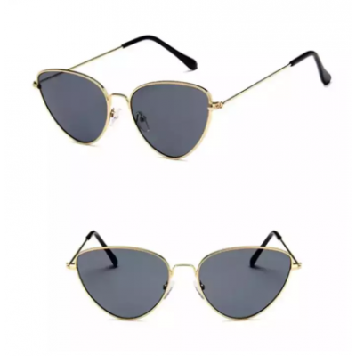 Black Shaded Cat-Eye Design Sunglasses For Women With Box