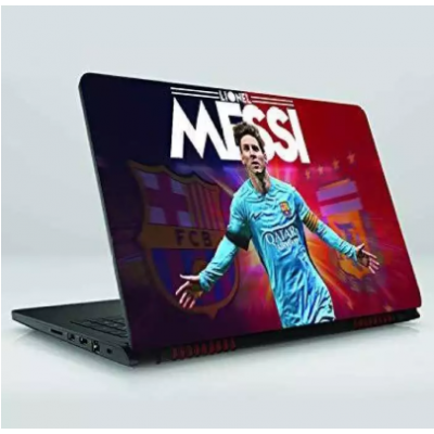 PVC Coated Laptop Skin Vinyl Stickers for 15.6 Inches Laptop Messi Skin Sticker Compatible with Dell, Hp, Lenovo, Toshiba, Acer, Asus and for All Models (15.6 x 11.6 inches)
