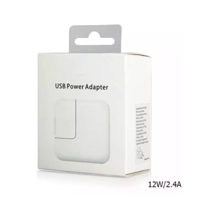 12W USB Power Adapter Plug Universal Smartphone Charger Rapid 2.4A Output for Apple iPad, iPad Mini, iPod, iPhone, and iWatch