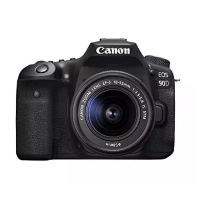Canon EOS 90D Digital SLR Camera with EF-S 18-55mm f/3.5-5.6 Image Stabilisation Lens Kit (16 GB SD Card) - Black