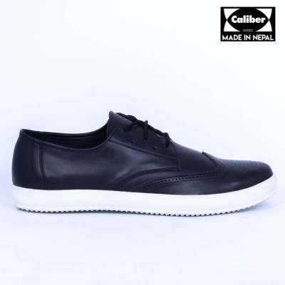 Caliber Shoes Black Casual Lace Up Shoes For Men