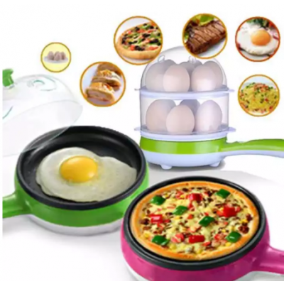 Electric Multi function Egg Boiler With Non Sticky Frying Pan