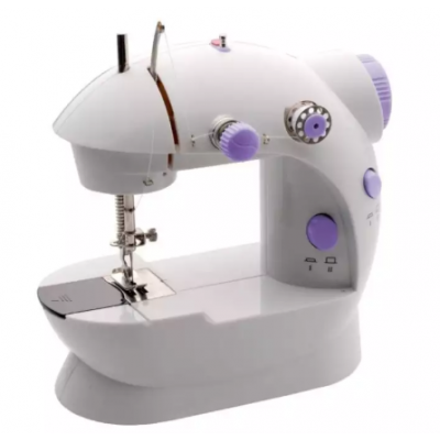 Portable Sewing Machine With Light And Cutter- White/Purple