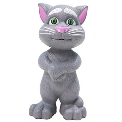 Grey Intelligent Talking Tom Cat For Kids