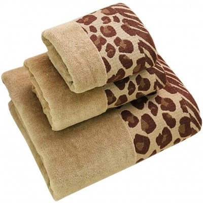 Brown Patterned Cotton Bath Towel