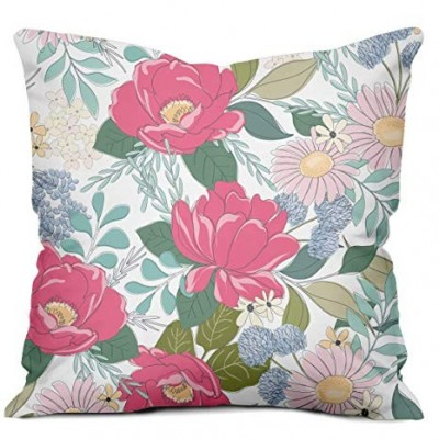 Flower Pattern Printed Cushion Cover