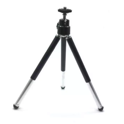 Two Sections Metal Tripod Stand - Black
