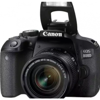 EOS 800D Digital SLR Camera with 18-55mm IS STM (16 GB SD Card )- Black
