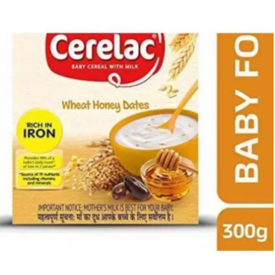 Nestle CERELAC Fortified Baby Cereal with Milk, Wheat Honey Dates – From 10 Months, 300g Box Pack