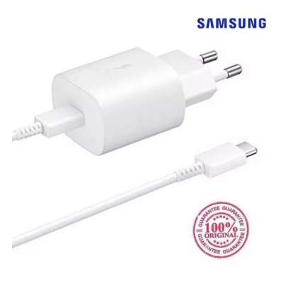 Genuine Samsung 25W Mains Charger with Type-C to Type-C Cable for Note10, Note10+, S10, A90, A70 and newer Models